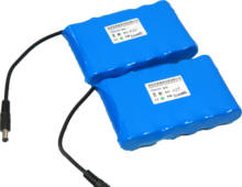 18650 li ion battery  pack 5200mAh 11.1V rechargeable lithium Battery