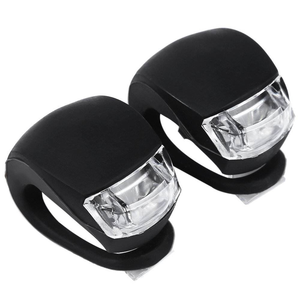 Colorful Decorative Silicone Bike Lights/ Visual Warning Rubber Wrap-around Rear Bicycle Lights