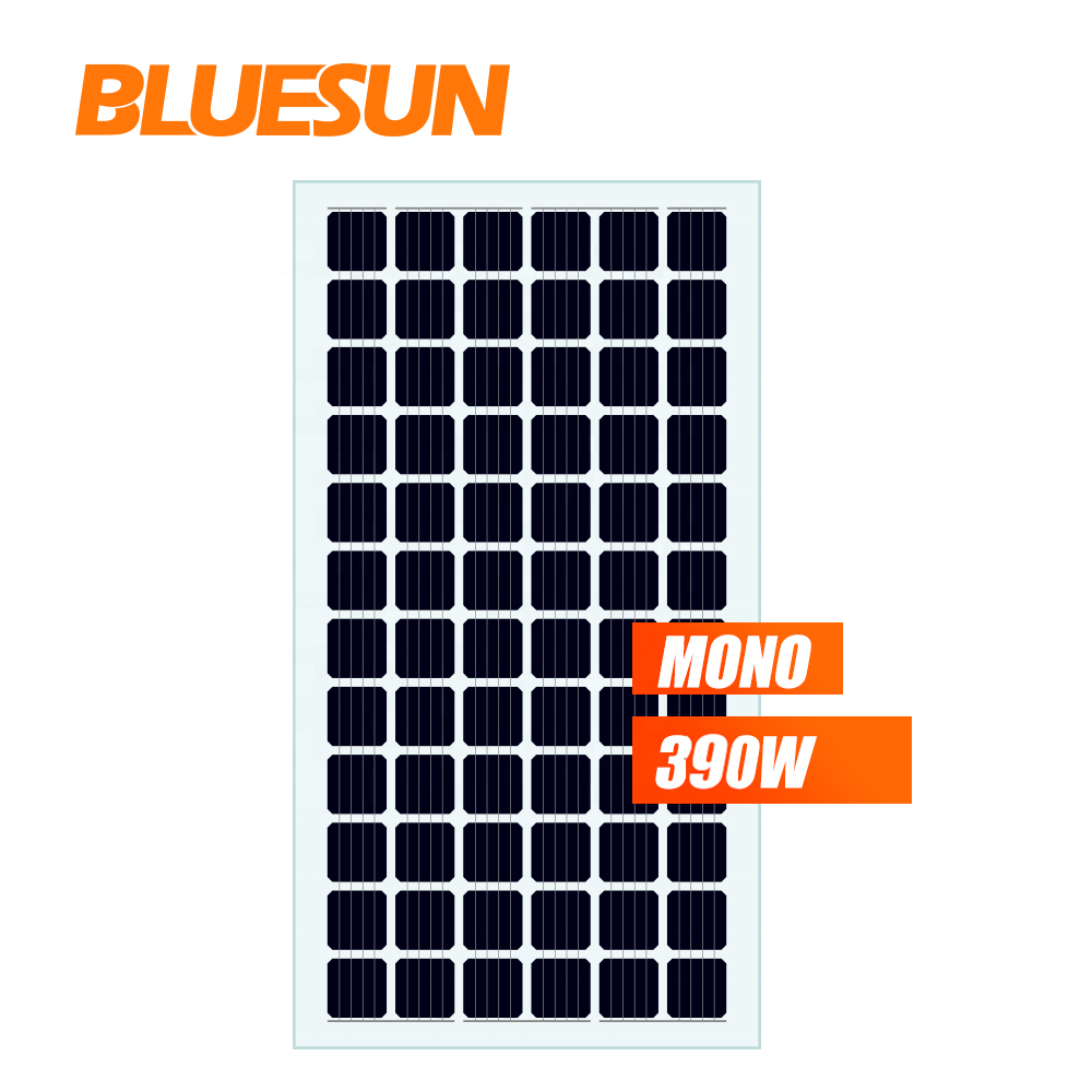 Bluesun bifacial solar panels mono 410w 400w transparent double glass solar panel pv solar cell 72cells