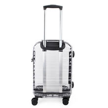 Transparent all PC fashion luggage with high quality