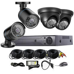 4CH AHD CCTV DVR 1080P Security Camera Video Surveillance Kit