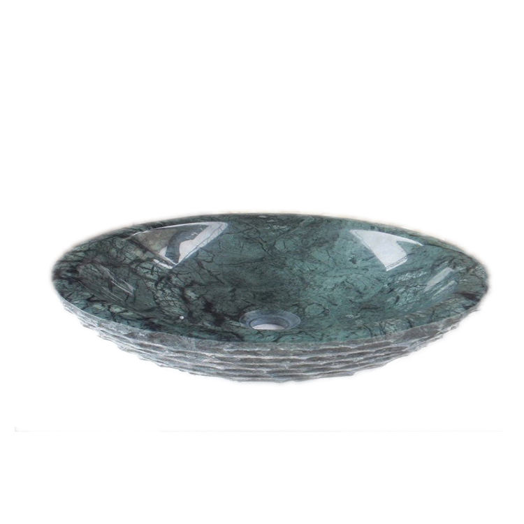 Styled Ancient Green Round Kitchen Marble Wash Basin for the Luxury House
