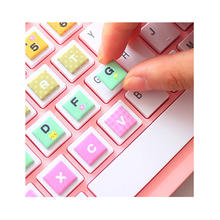 Custom Self Adhesive Cartoon Bubble Sticker Keyboard Foam Label Stickers