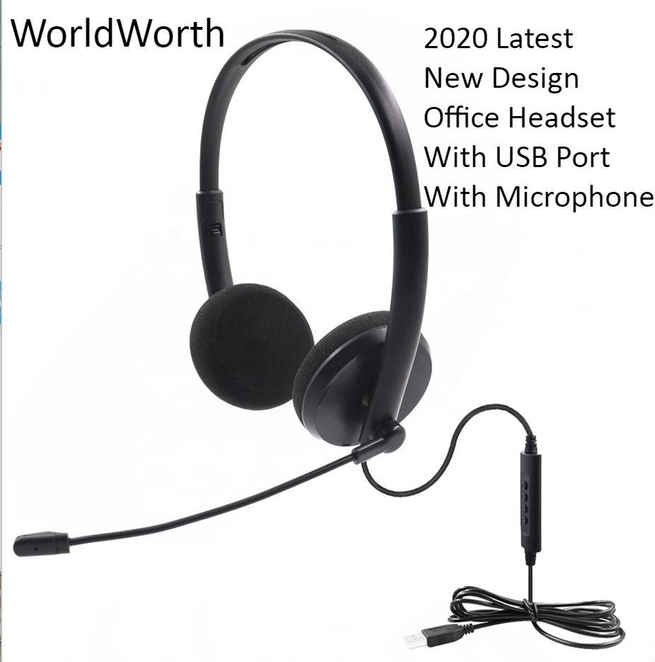 2020 New Office Headset with Mic Noise Cancelling Office Headset with Usb for Call Center Call QD Telephone Headset With Usb