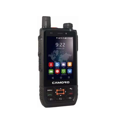 CAMORO 3G 4G WCDMA Android walkie talkie mobile phone 100miles 200km with card networking radio wifi walkie talkie network