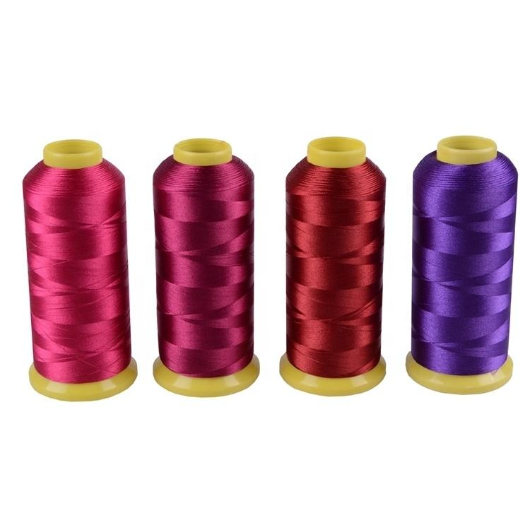 RT06-1 dyed 120d 2 viscose rayon embroidery thread 100% rayon embroidery thread
