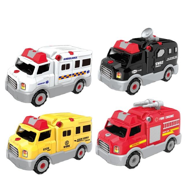 Low Price New Type Take Apart Toy Ambulance With Ligh And Sound