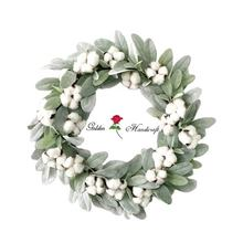 Wedding Home Decorative Door Wreath Artificial Flower Lavender Wreath