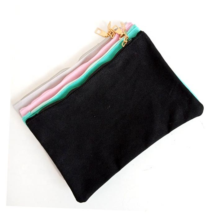Promotion custom fashion small beautiful canvas cotton make up bags cosmetic bag
