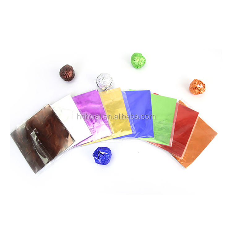 newest price wholesale food grade aluminum foil paper sheet wrapper for chocolate wrapping material