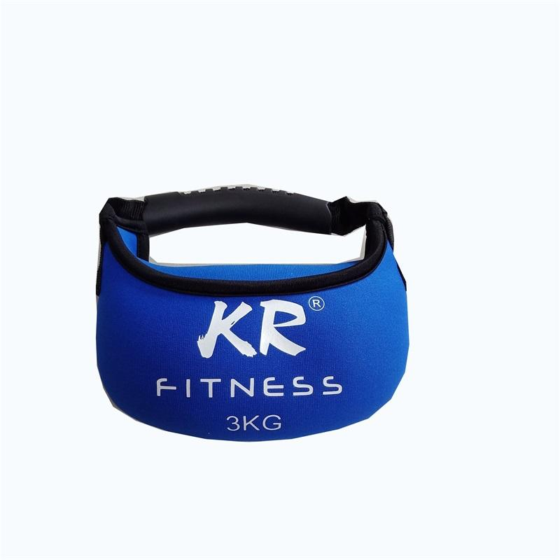 body fitness weight lifting soft neoprene kettle bell with sand filling