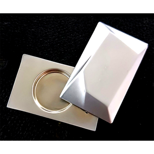 zinc alloy sliding cosmetic enamel empty metal box solid perfume packaging case containers compact base for the solid perfume