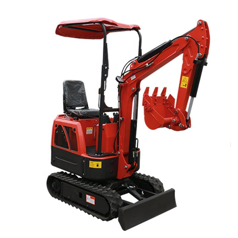 Construction Sites Used 1.0 ton Mini Hydraulic Crawler Excavator With Log Grapple