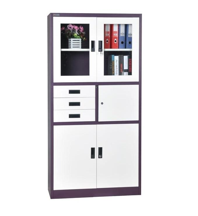 High Quality KD steel filing storage cabinet Office Three Drawers Steel Filing Cabinet with Safe box