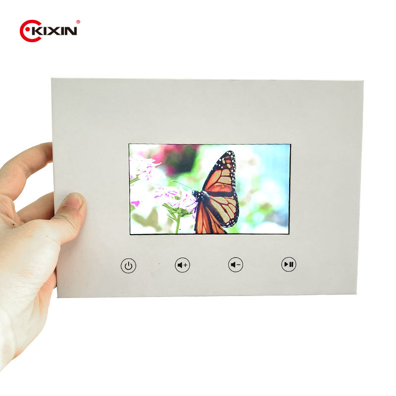 Custom Business 5 inch Greeting Cards LCD 480*272 Resolution Advertising Player Digital Video Card