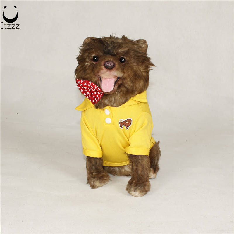 ITZZZ 2019 New Fashion Handmade Home Decor ideas Cute Small dog clothes Lifelike Dog model For Home Decoration