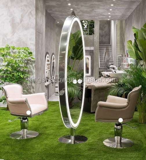 2019 hot sell salon barber mirror station