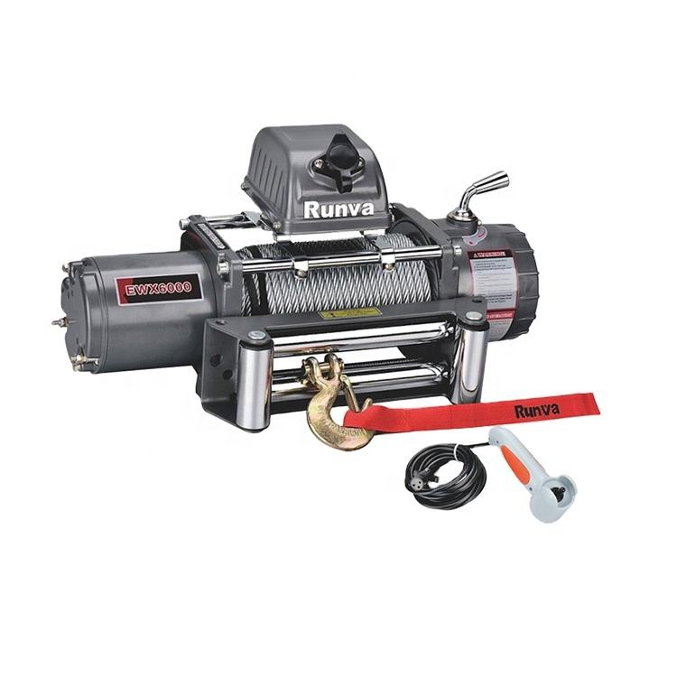 12v Electric Winch Hot Selling 6000 Lb 12v Electric Winch For Sale EWX6000S