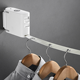 Multi-Function Clothesline Retractable Cloth Rack Belt Tendedero Free Punching Indoor Laundry Line Bracket Clothesline