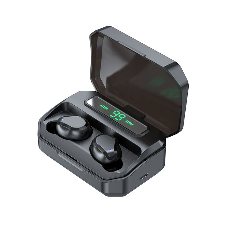 IPX5 stereo sport v5.0 wireless headphones true wireless waterproof earbuds with charging case