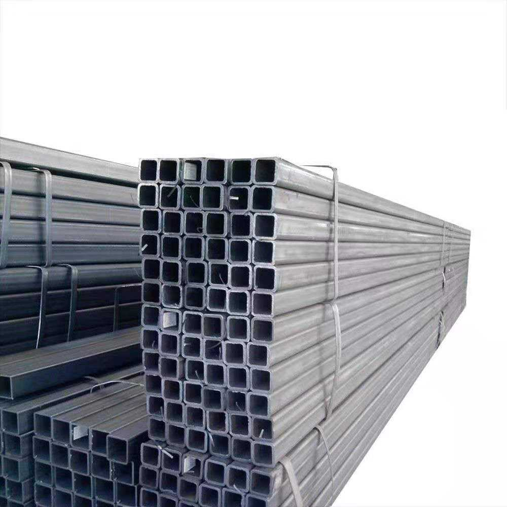 High quality Corrugated square tubing galvanized steel pipe iron rectangular tube price for carports