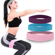 Hot selling durable custom logo elastic exercise fabric workout yoga hip fitness booty resistance bands