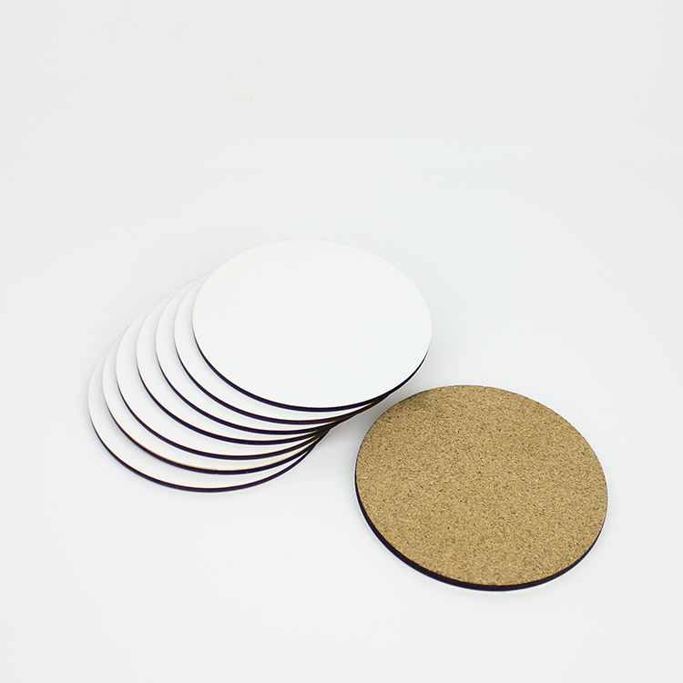 95mm New 2019 Custom Printed Sublimation Blank mdf round Cork Coaster