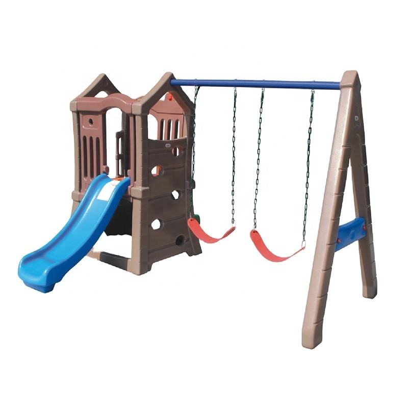 rotational moulding more durable outdoor plastic playground swing set with slide