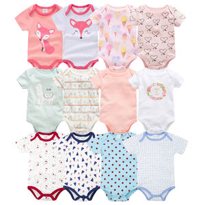 2019 new brand cotton fashion short sleeve baby rompers newborn