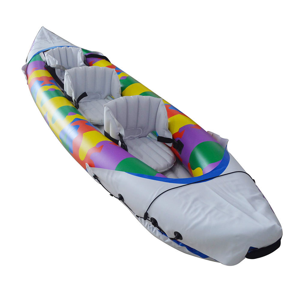Sunshine 3-Person Inflatable Portable Sport Kayak Set Canoe Boat with Aluminum Oars and High Output Air Pump In Stock