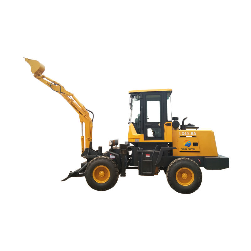 Multifunction long boom mini wheel excavator