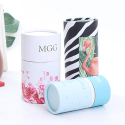Simple white card paper flower tea white tea paper can customization color printing tea packaging paper cylinder food sealing pa