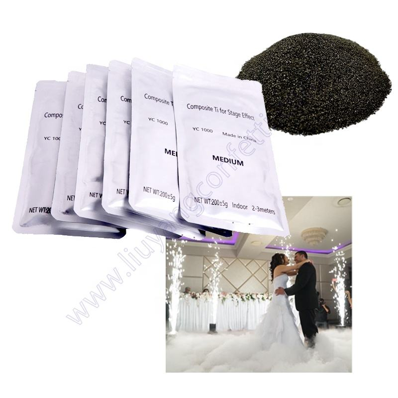 Indoor Fireworks Cold Spark Machine For Pyrotechnics Fountain Sparkler Composite Ti Outdoor Wedding Stage Titanium Powder