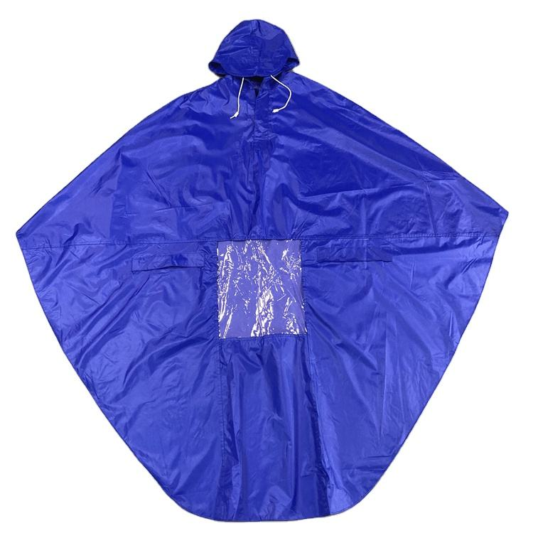 Cycling Bicycle Bike Raincoat Rain Cape Poncho Hooded Windproof Rain Coat Mobility Scooter Cover