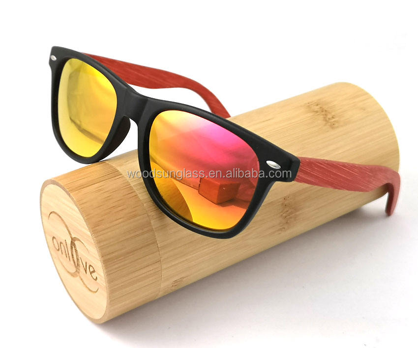 Bamboo Wood Sunglasses For Men & Women with Polarized Lenses with Wood Box