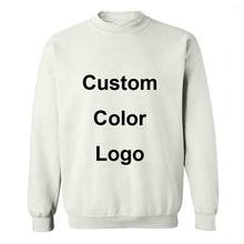 OEM Custom Wholesale White Long Sleeve Logo Printing  Blank Polyester Cotton Sublimation Pullover Crew Neck Sweatshirt Men