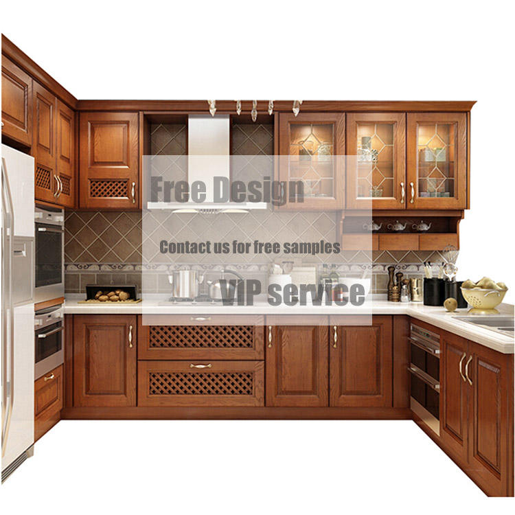 American Kitchen Custom Made Wood Kitchen Joinery Kitchen Cabinet Door in Solid Wood