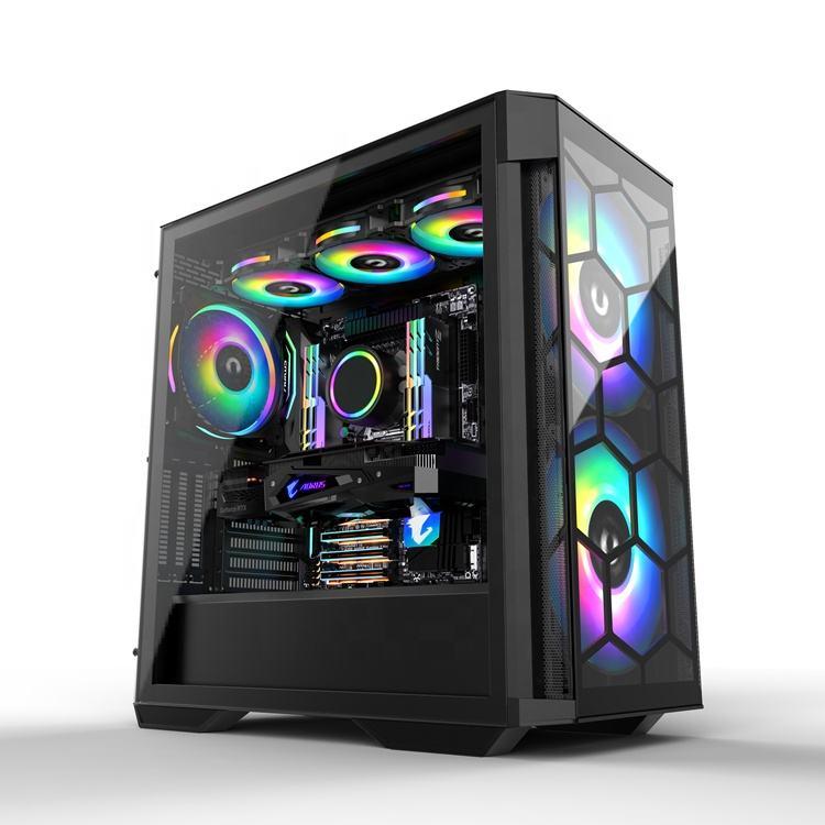 HEIßER verkauf JNP-S01 Gehärtetem glas EATX Fall Gaming Computer Fällen Unterstützung 420 Wasser Kühlung