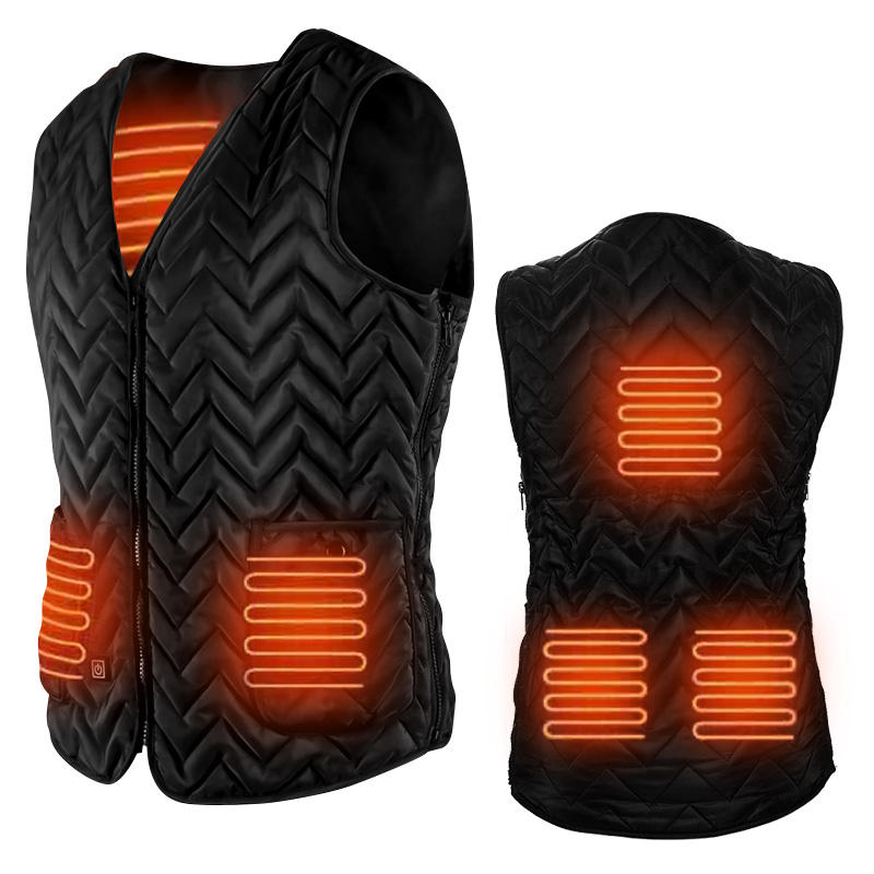 SUNMAS electronic 7.5v battery operated rechargeable adjustable carbon fiber heated vest