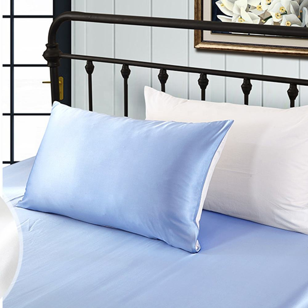 Custom Luxury Home Soft Travel Queen Size 100% Satin Silk Pillowcases Pure Mulberry Silk Pillowcase