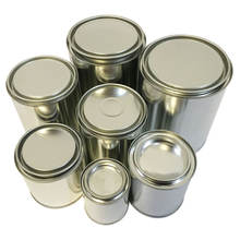 59ml-1000ml  empty round metal tin can container paint can with lids