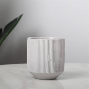 embossed surface design matte wholesale cheap indoor balcony decorative ceramic planters home decor pots for plants