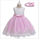D0109 Girl Dress Summer Latest Design Kids Wedding Party Lace Flower Bridesmaid Dresses For Children