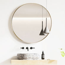 Modern Stainless Steel Frame decorative wall mirrors 2020 New designs top sale round framed wall mirror for bathroom