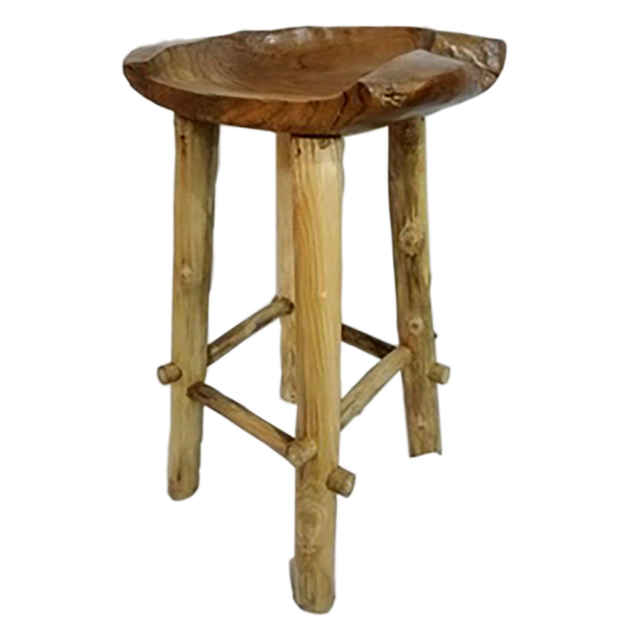 High Quality Bar Stool Bowl Pang Teak Wood Stool For Comercial Stool