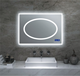modern fashional led touch screen makeup mirror with light for bathroom