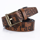 Fashion custom male jeans casual leather belt man high quality for men