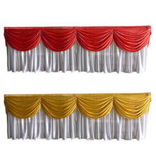 swag table skirt/ruffled table skirts wedding table skirting with wave