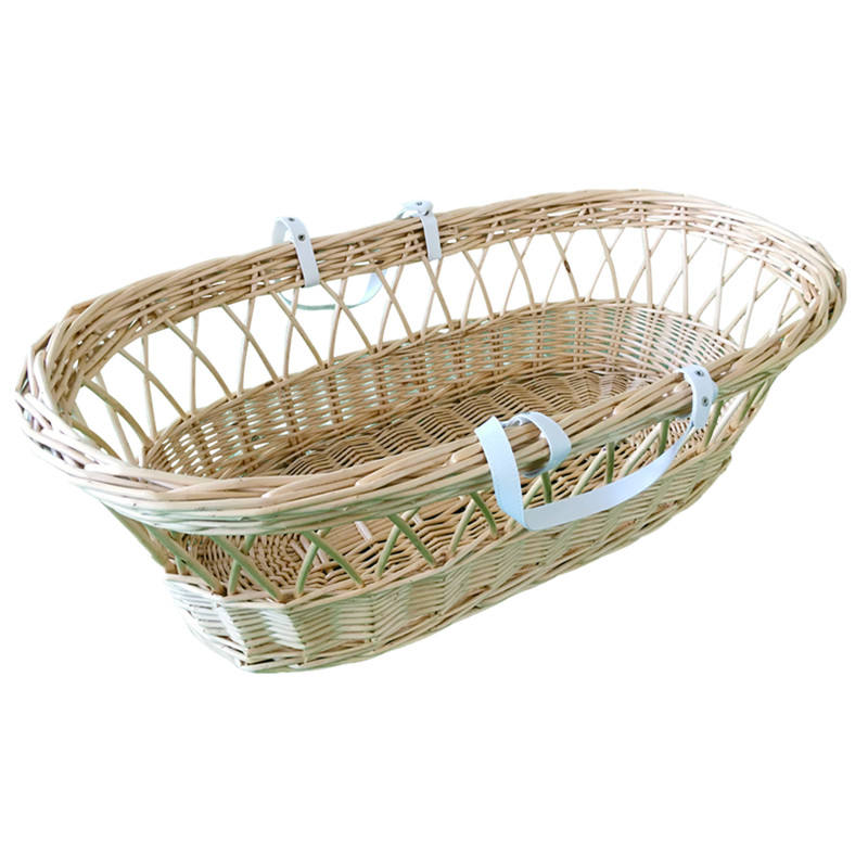Wicker baby moses basket