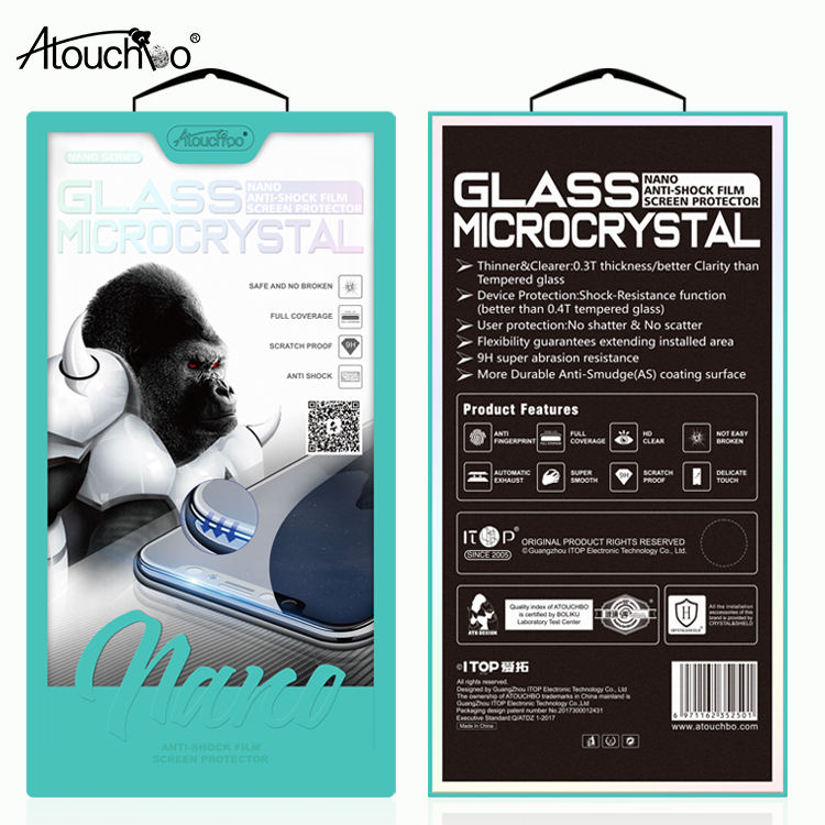 Nanocrystalline Glass Screen Protector 11 Pro Max Flexible Explosion-Proof Optical Glass Film for iPhone 11 Pro XS Max XR X 7 8